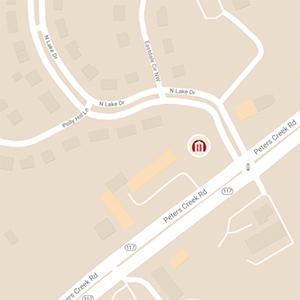Map View of Roanoke, Peters Creek Office