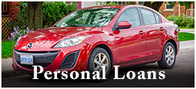 Link to Personal Loans area - photo of a four door sedan